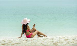 bikini en la playa